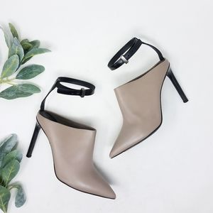 VINCE Pointed Toe Strappy Heels 7